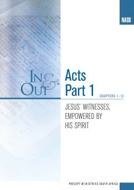 Image for cover of Acts Part 1 In & Out - Jesus' Witnesses, Empowered by His Spirit (Chapters 1-12)