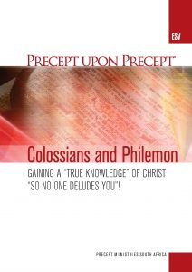 Image of cover for Colossians and Philemon ESV - Gaining a True Knowledge of Christ So No One Deludes You!