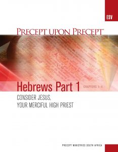 Image of cover for Hebrews Part 1 ESV PUP - Consider Jesus, Your Merciful High Priest (Chapters 1-4)