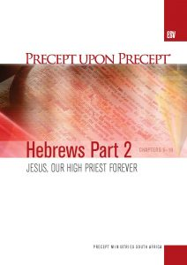 Image of cover for Hebrews Part 2 ESV PUP - Jesus, Our High Priest Forever (Chapters 5-10)