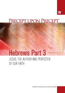 Image of cover for Hebrews Part 3 ESV PUP - Jesus, the Author and Perfecter of Our Faith (Chapters 11-13)