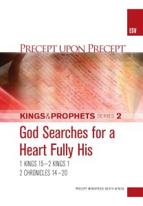 Image of cover for Kings and Prophets Part 2 ESV PUP - God Searches for a Heart Fully His (1 Kings 15-2 Kings1 \ 2 Chr 14-20)