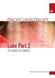 Image of cover for Luke Part 2 ESV PUP - The Savior of Sinners (Chapters 17-24)