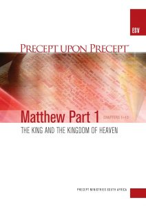 Image of cover for Matthew Part 1 ESV PUP - the King and the Kingdom of Heaven (Chapters 1-13)
